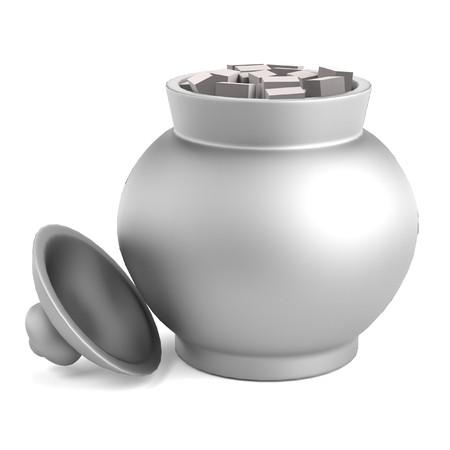 basin: realistic 3d render of sugar basin