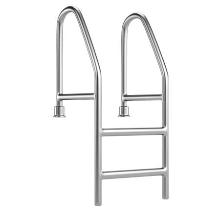 realistic 3d render of pool ladder