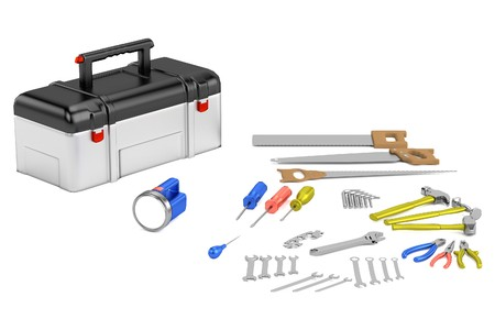 awl: realistic 3d render of tools