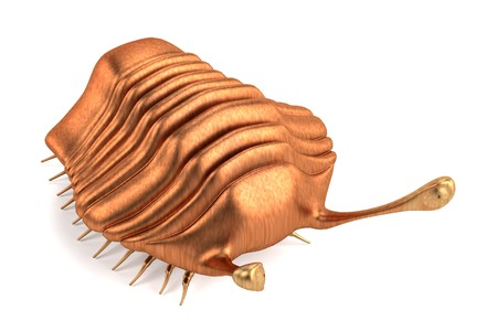 stoned: realistic 3d render of trilobite