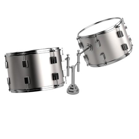 realistic 3d render of drum photo
