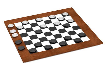 realistic 3d render of checkers photo