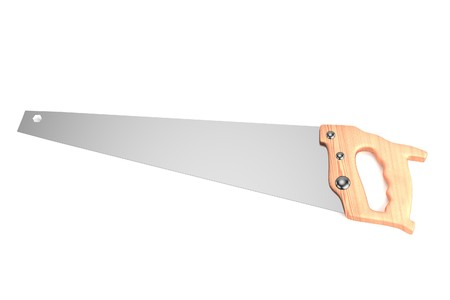 handsaw: realistic 3d render of hand saw Stock Photo