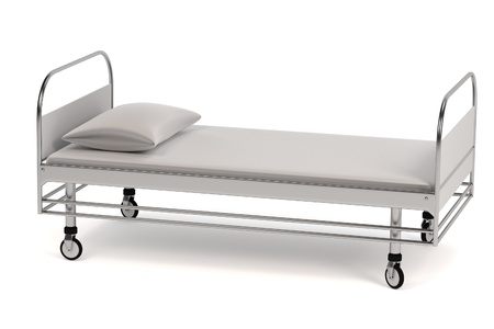 realistic 3d render of hospital bed photo