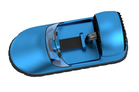 hovercraft: realistic 3d render of hovercraft Stock Photo