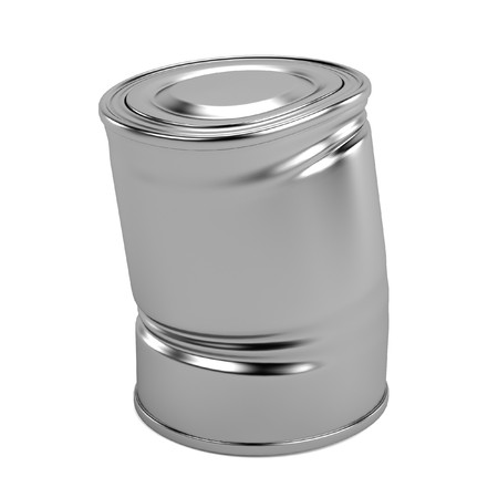 realistic 3d render of old can photo