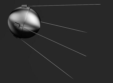sputnik: realistic 3d render of sputnik