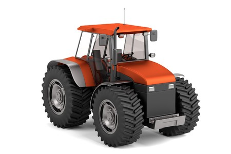 realistic 3d render of tractor photo