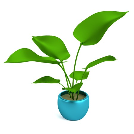 philodendron: realistic 3d render of philodendron Stock Photo
