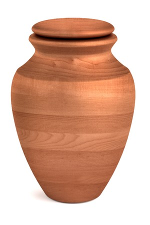 realistic 3d render of urn Stock Photo