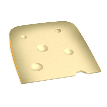 goat cheese: realistic 3d render of cheese Stock Photo
