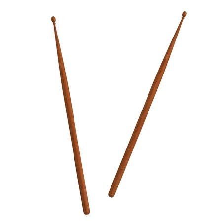 ドラム棒の現実的な 3 d のレンダリング 写真素材
