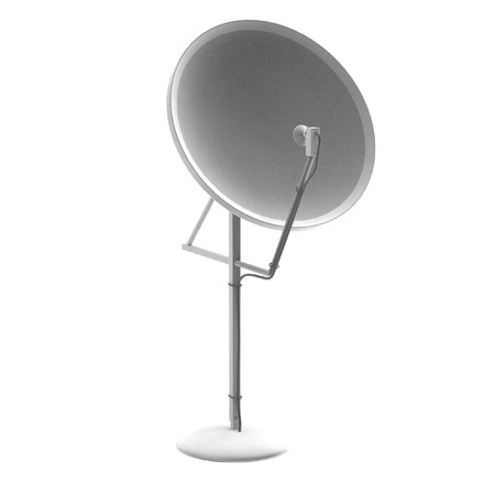 television aerial: realistic 3d render of antenna