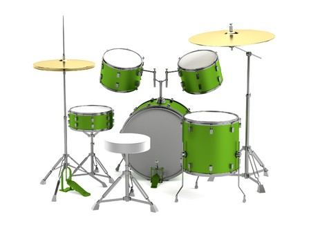 realistic 3d render of drumset photo