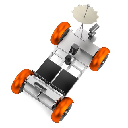 rover: realistic 3d render of rover