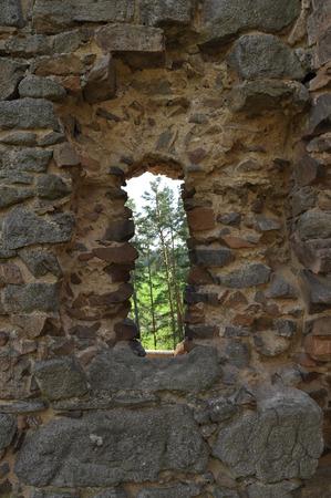 destructed: photo of Vrskamyk old castle ruins