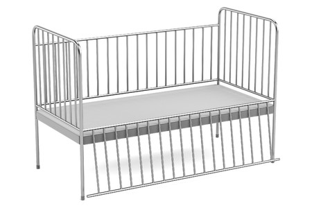 realistic 3d render of medical bed Stock Photo
