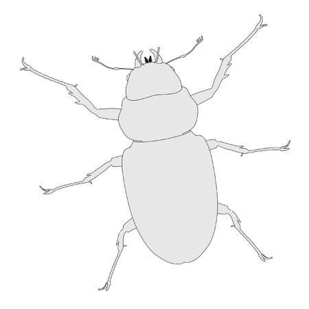 lucanus: 2d cartoon image of lucanus cervus