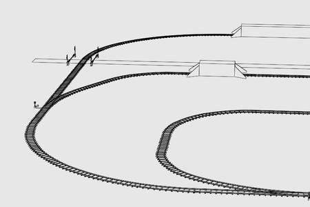 wood railways: cartoon image of railway (transport)