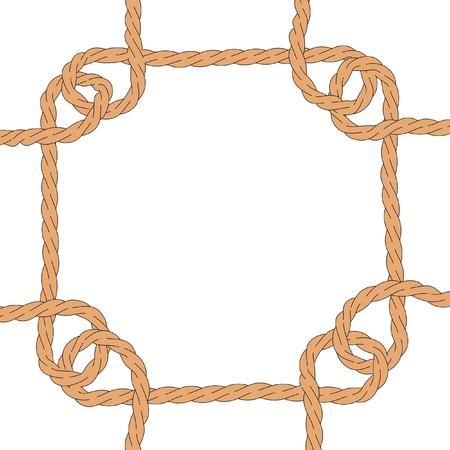 trucker: cartoon image of simple rope Stock Photo