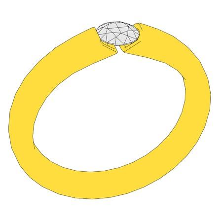 2d: 2d cartoon image of ring Stock Photo