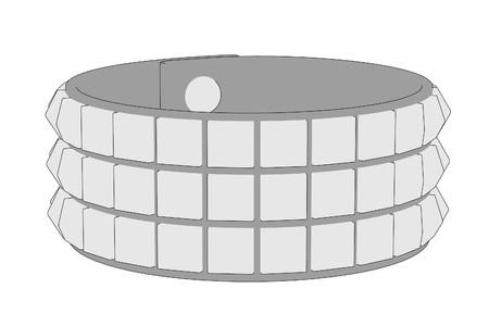 bracelet: cartoon image of punk bracelet Stock Photo