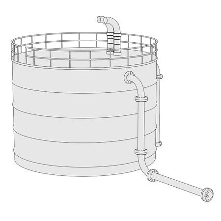 storage unit: 2d illustration of Gas Storage Unit Stock Photo