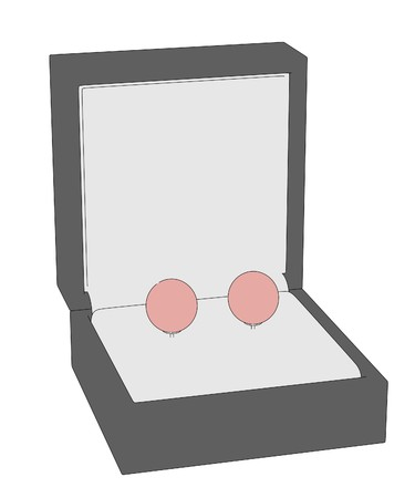 jewellry: cartoon image of earrings in boxes Stock Photo