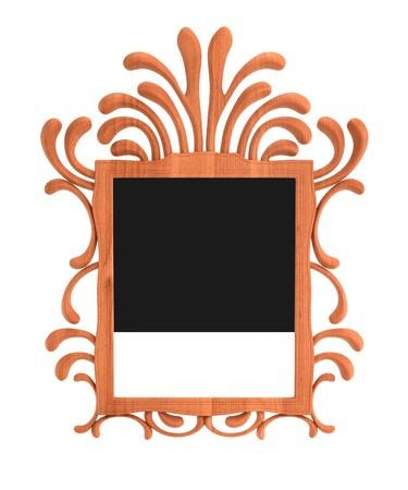 mirror: 3d render of baroque mirror Stock Photo