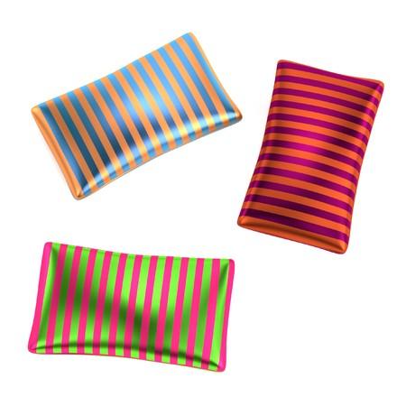 pillows: 3d render of satin pillows