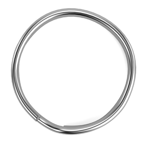 key ring: 3d render of key ring Stock Photo