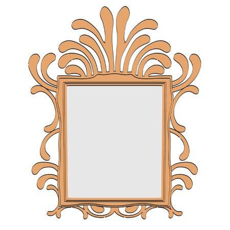 old mirror: 2d illustration of old mirror