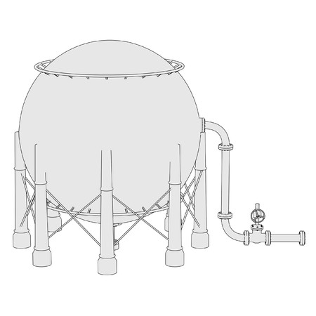 the unit: 2d illustration of Gas Storage Unit Stock Photo