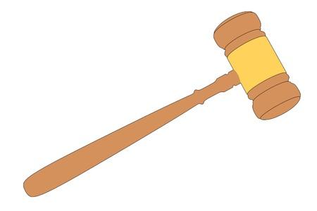 judge gavel: cartoon image of judge gavel Stock Photo