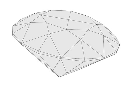 diamond cut: cartoon image of diamond cut