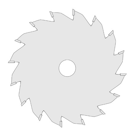 power tools: cartoon image of disc for power tools