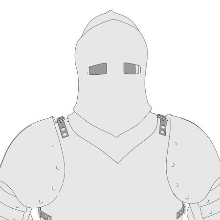 toons: cartoon image of medieval armor Stock Photo
