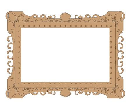 painting frame: cartoon image of painting frame Stock Photo