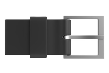 belt buckle: 3d render of belt buckle Stock Photo