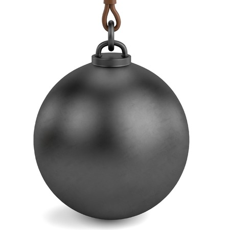 destroying: 3d render of wrecking ball Stock Photo