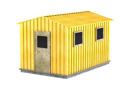 shack: 3d render of industrial shack Stock Photo