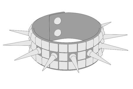 cartoon image of punk bracelet Stock Photo