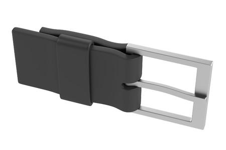 buckle: 3d render of belt buckle Stock Photo