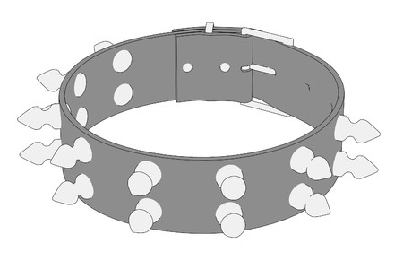 cartoon image of punk necklace
