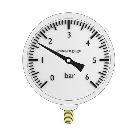 pressure gauge: cartoon image of pressure gauge Stock Photo