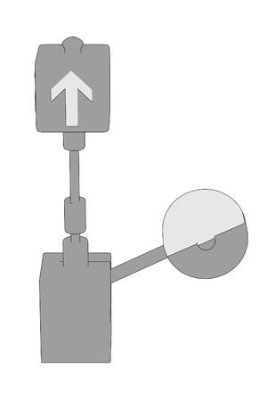 wood railways: cartoon image of railway switch