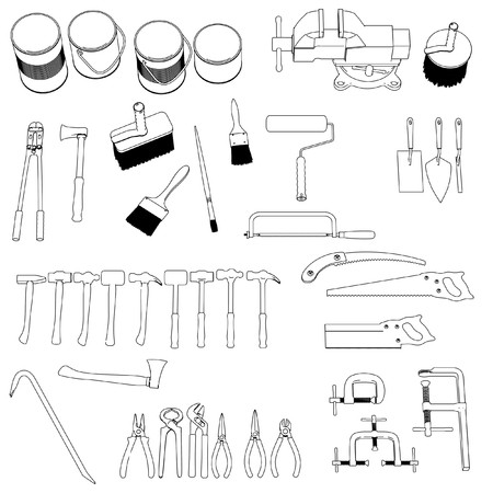 2d: 2d cartoon image of tools - large collection