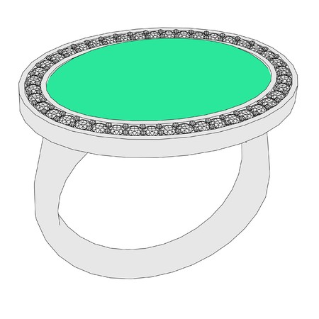 wed: 2d cartoon image of ring Stock Photo