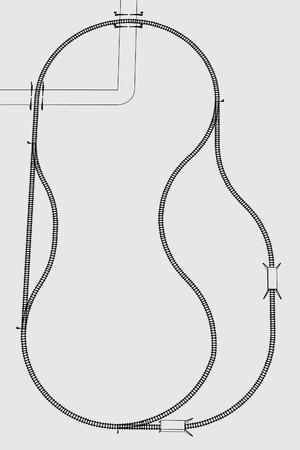 railway track: cartoon image of railway track Stock Photo