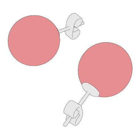 jewellry: cartoon image of earrings - jewellry
